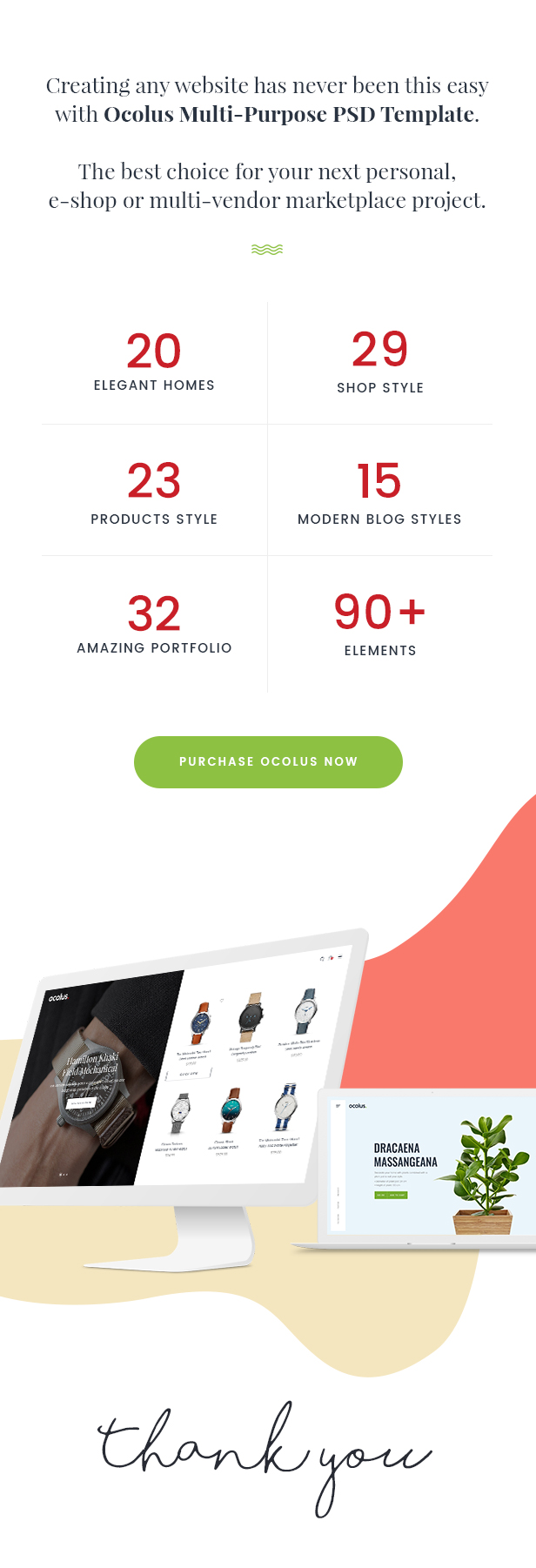 Ocolus - Creative & Modern Multi-Purpose eCommerce PSD Template - 7