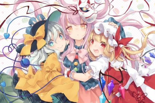 flandre-scarlet-komeiji-koishi-hata-no-kokoro-touhou-hug-friends.jpg